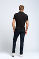 August McGregor Clover Pima Cotton Pique Polo in Black