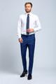 August McGregor Slim-fit Four Season Wool 2-Piece Suit in Multi Blue Mini Check Plaid