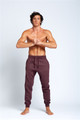 August McGregor | AM Embroidered Logo Joggers in Plum