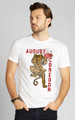 August McGregor Crouching Tiger Crewneck T-Shirt in White