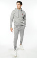August McGregor Embroidered AM Jogger Sweatpants in Carbon Grey