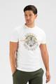 August McGregor Born to Win premium cotton t-shirt in white