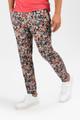 August McGregor Laguna Canyon Coral Black Floral Slim-fit Cotton Trousers