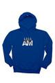 August McGregor Billionaire Strut Hooded Sweatshirt in Royal Blue - flat lay image