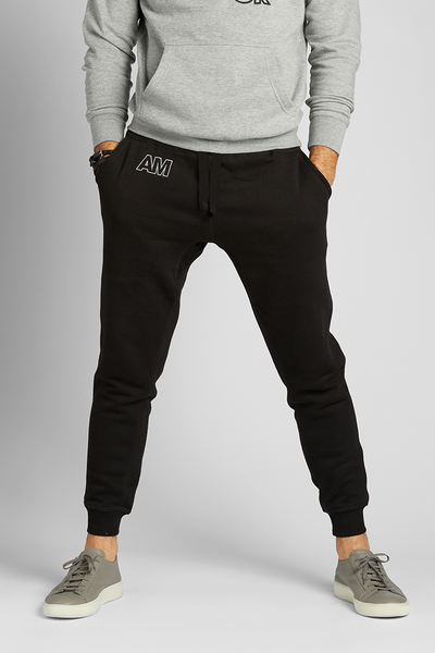 August McGregor AM monogram joggers in black