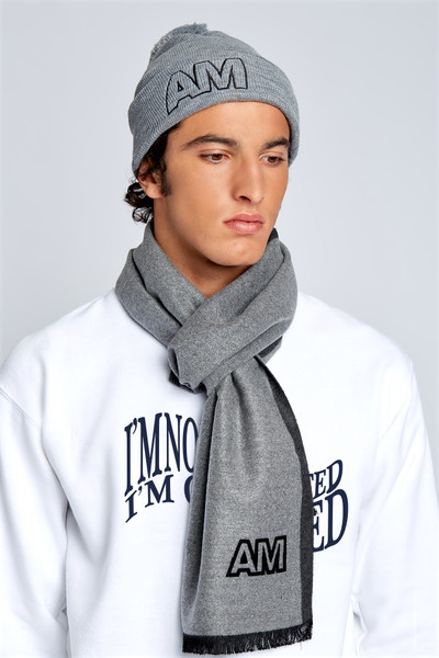 August McGregor AM Flocked Logo Scarf
