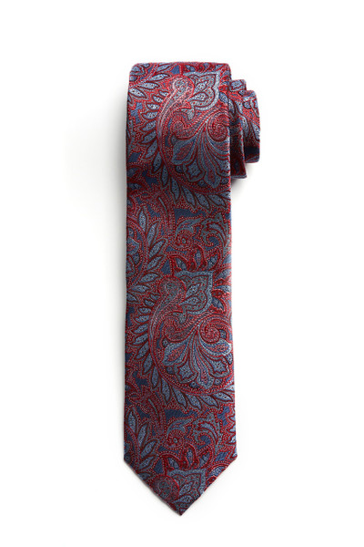 August McGregor Red Blue Paisley Tie