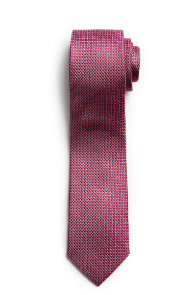 August McGregro Pink with Blue Check Textured Tie