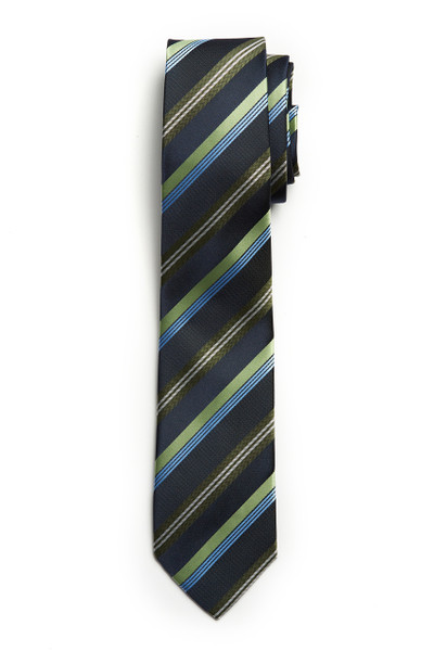 August McGregor Green Stripe Tie