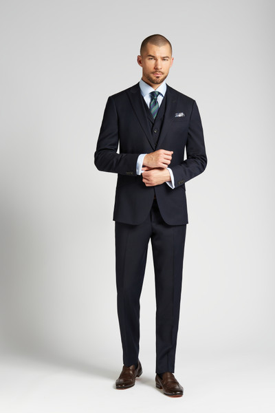August McGregor Slim-fit 4-Season Wool 3-Piece Suit in Midnight Navy
