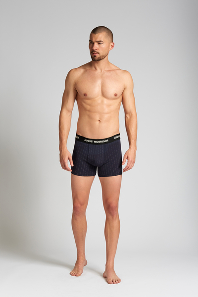 August McGregor Eff You Pinstripe Navy Boxer Brief Underwear