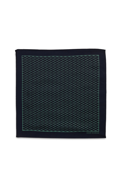 August McGregor AM Check Silk Pocket Square