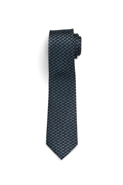 August McGregor AM Check Navy Green Silk Tie