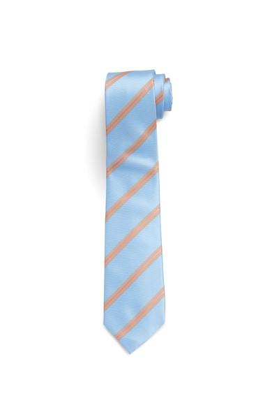 August McGregor Light Blue with Salmon Stripe Tie