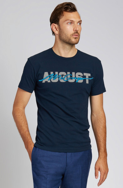August McGregor Blue Flocking T-Shirt