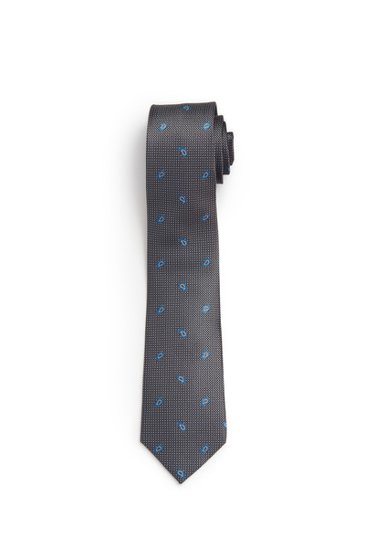 August McGregor Grey with French Blue Mini Paisley Tie