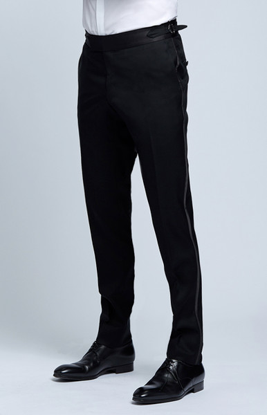 August McGregor Black Tuxedo Trousers