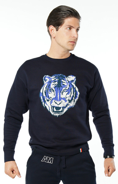 August McGregor Conor McGregor Tiger Crewneck Sweatshirt in Navy