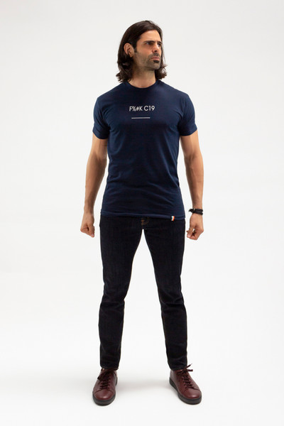 August McGregor F%#K C19 T-shirt in Navy