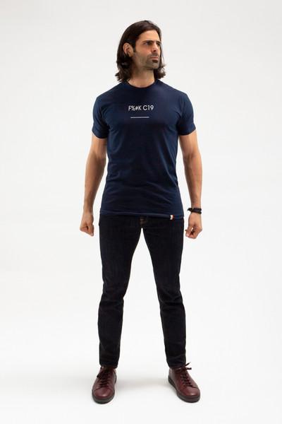 August McGregor F%#K C19 T-shirt in Navy