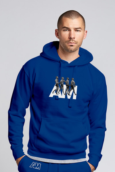 August McGregor Billionaire Strut Hooded Sweatshirt in Royal Blue