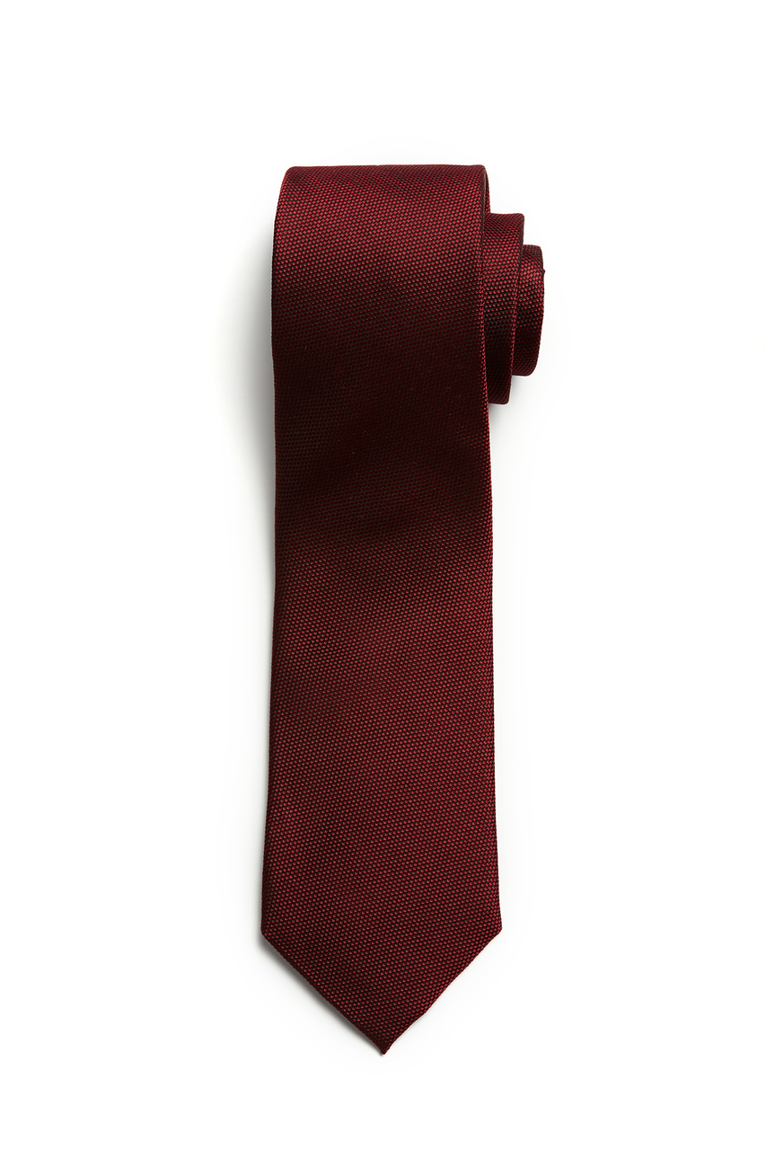 Textured Burgundy Pin Dot Tie