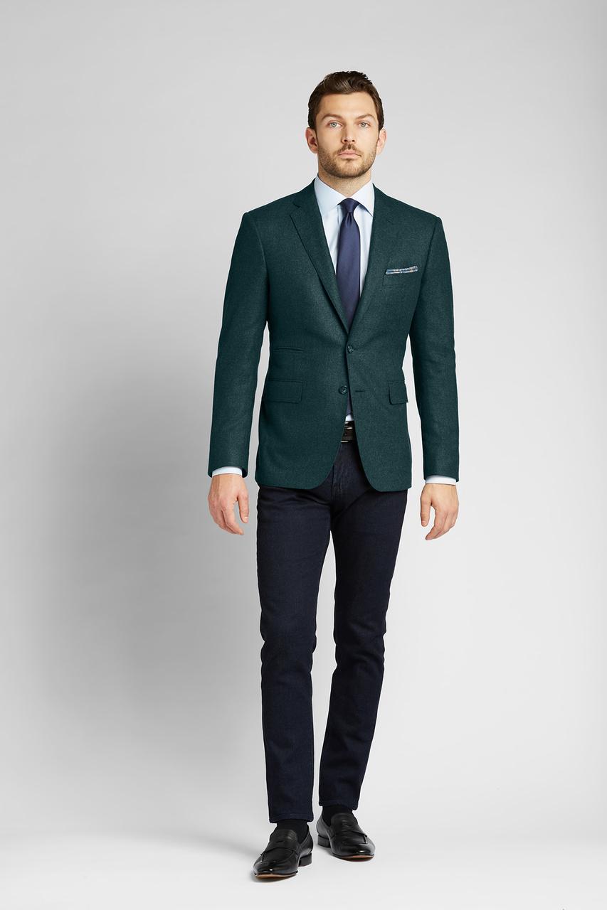 Moss Green Flannel Wool Sport Coat