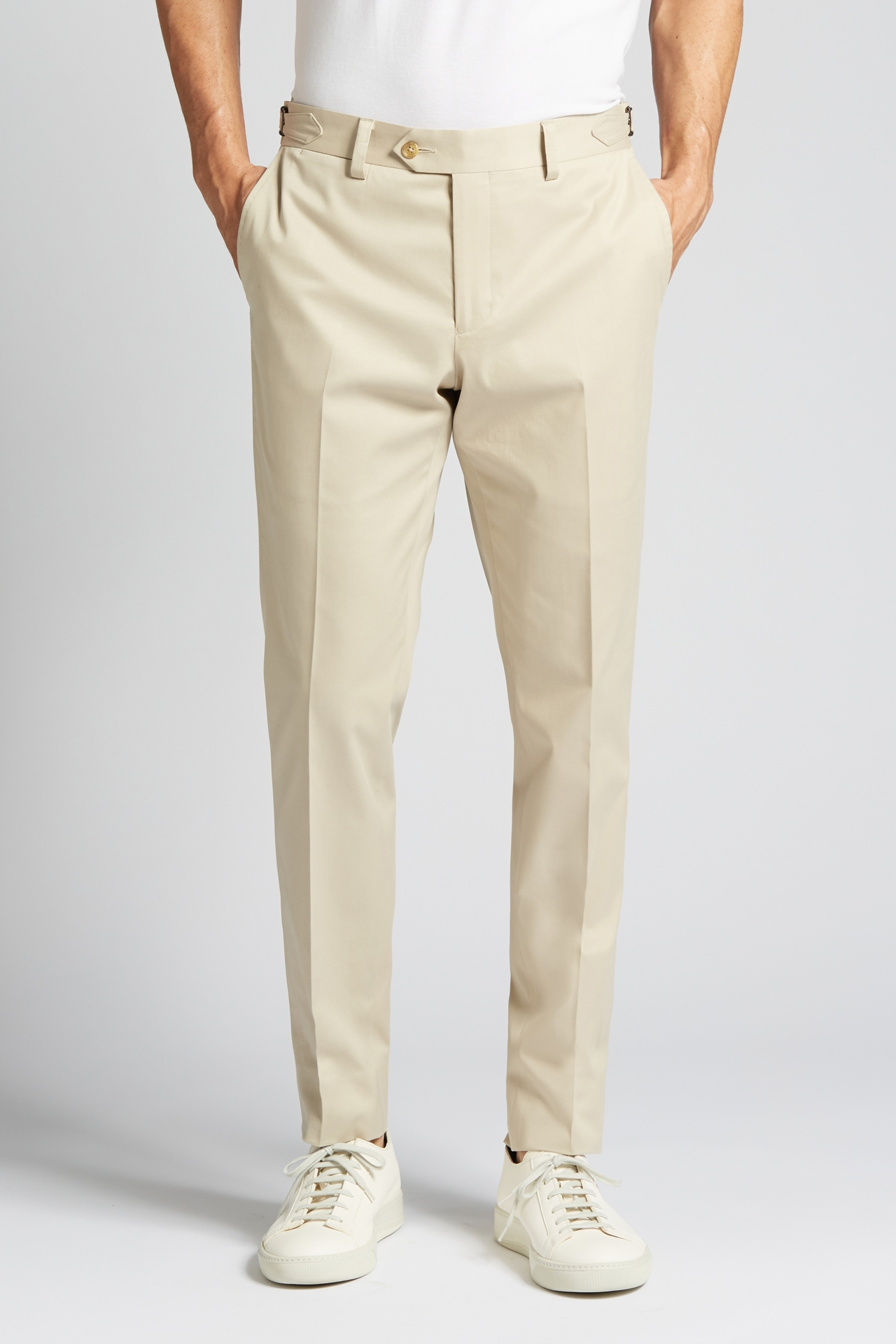 Slim-Fit Cotton Chino Trousers in Khaki