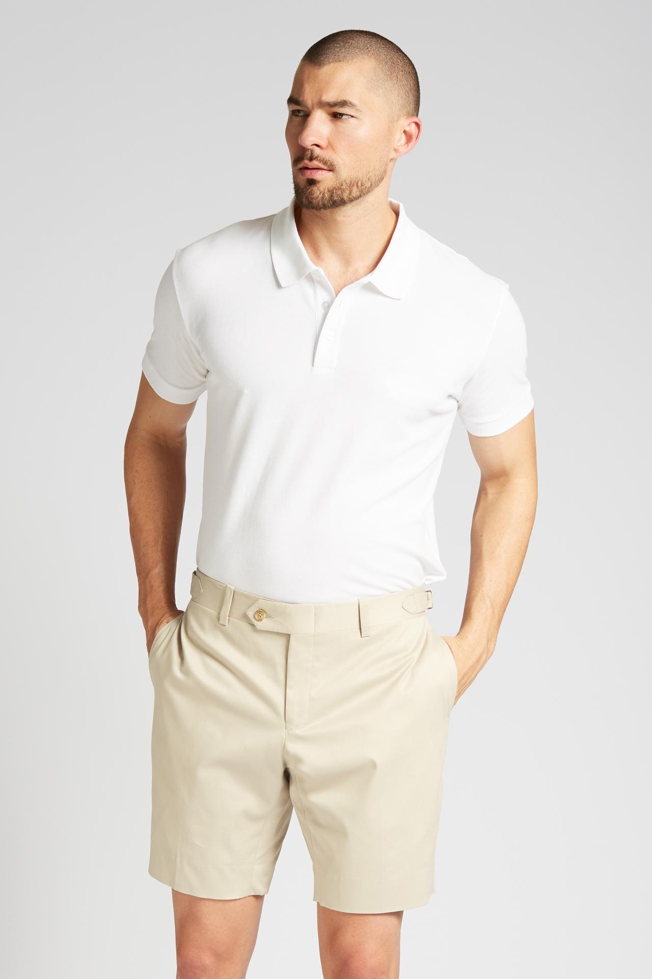 Slim-Fit Cotton Chino Shorts in Khaki