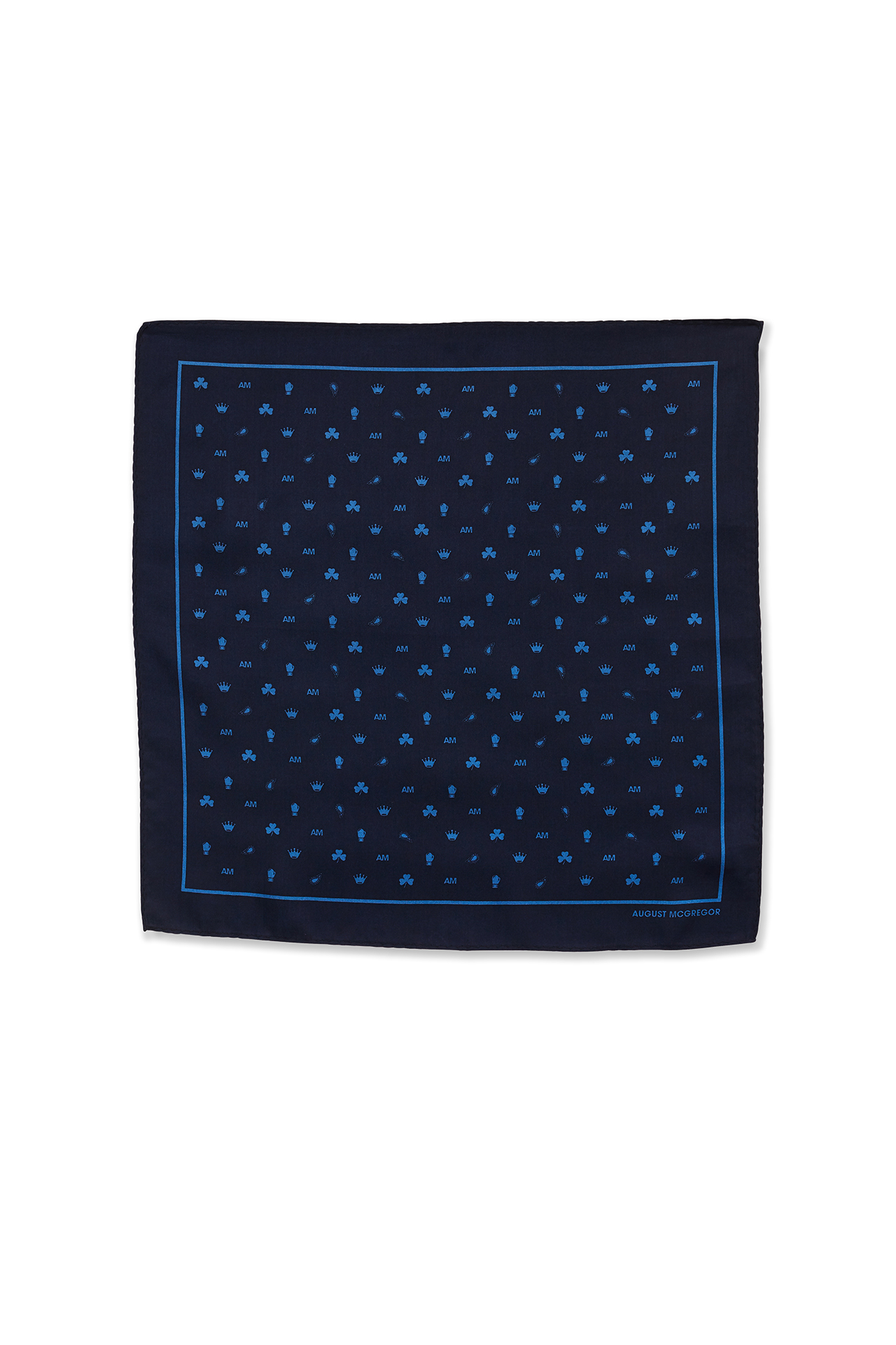 August McGregor Icon Navy Pocket Square