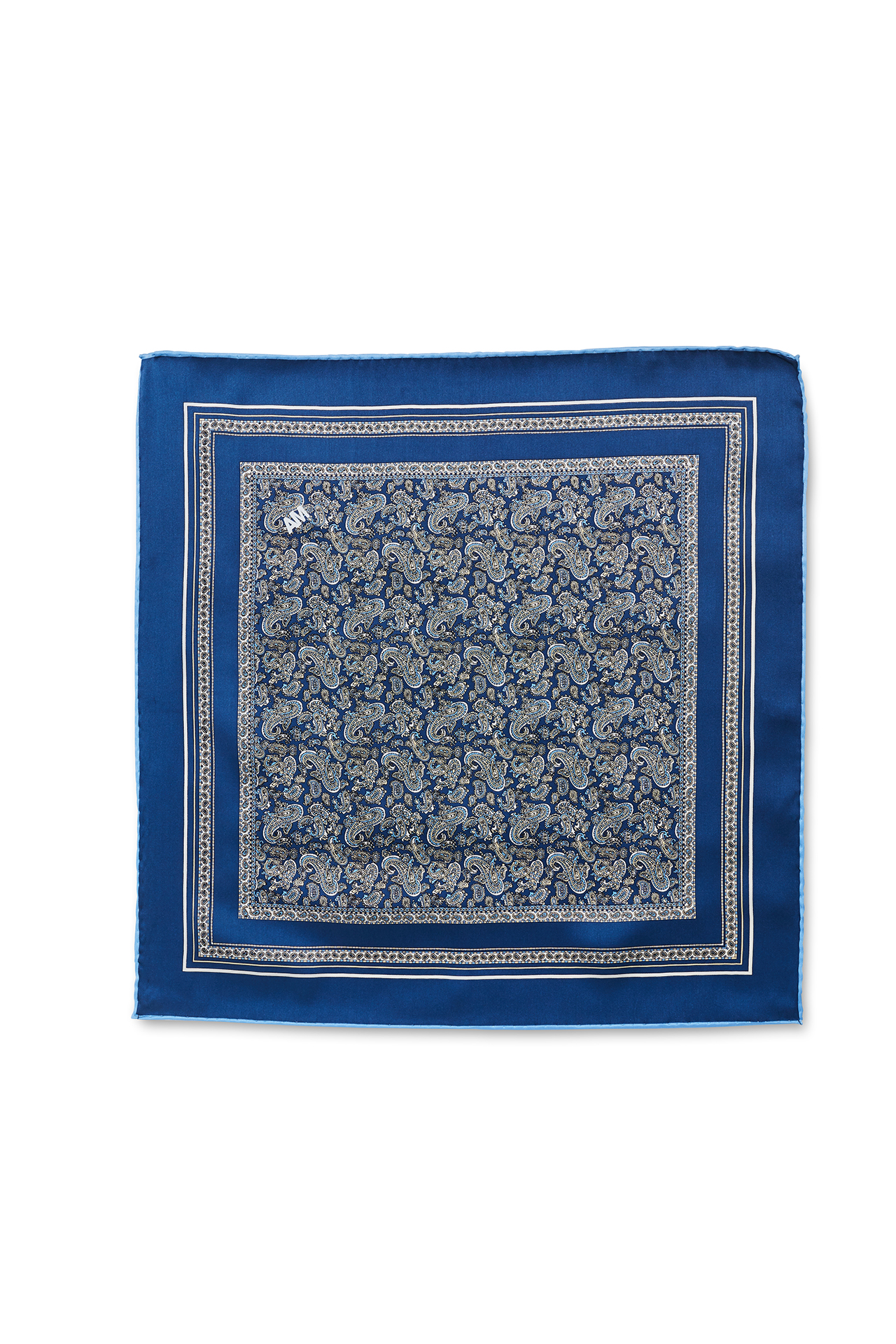 Blue with Periwinkle Paisley Pocket Square