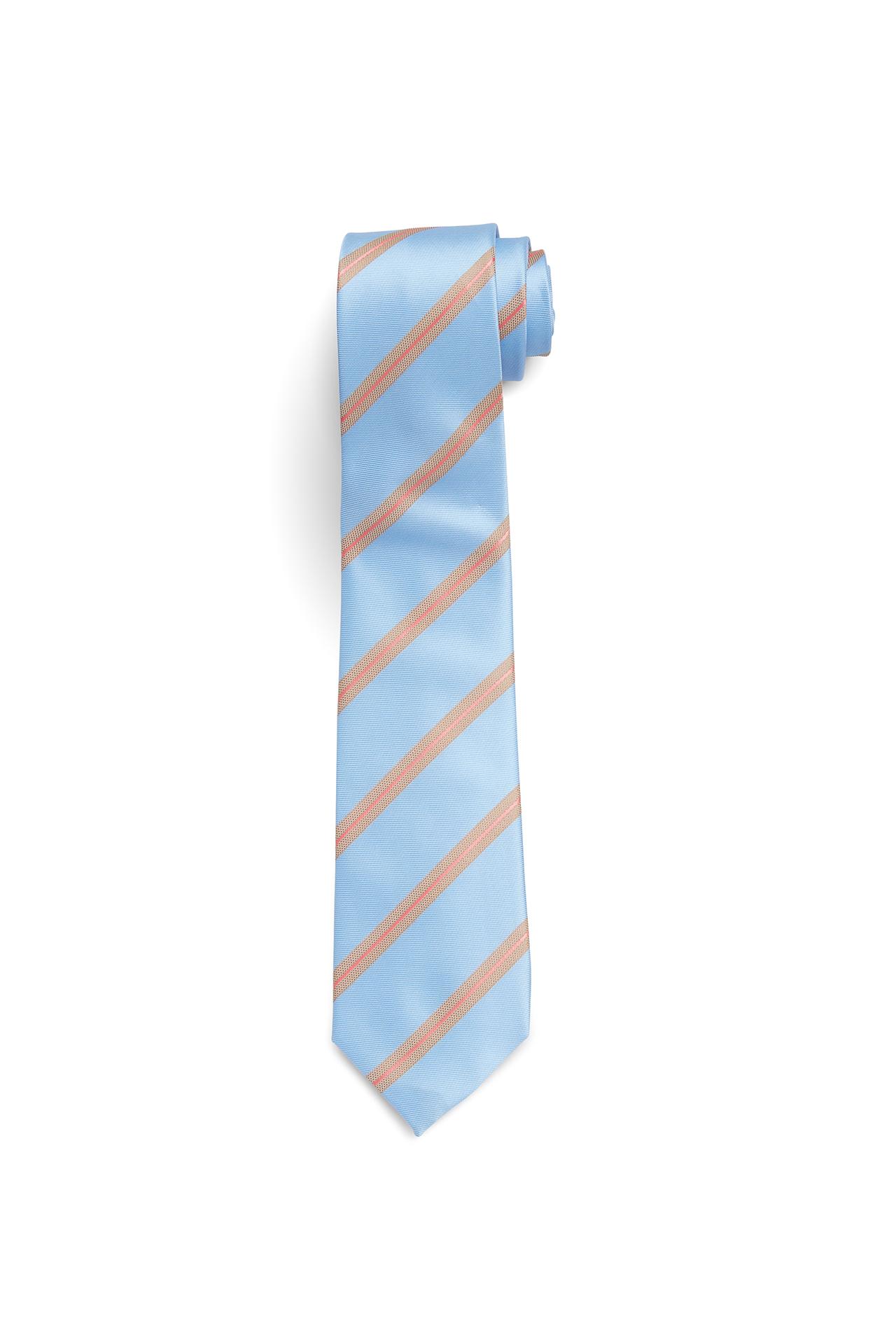 Light Blue with Salmon Stripe Tie