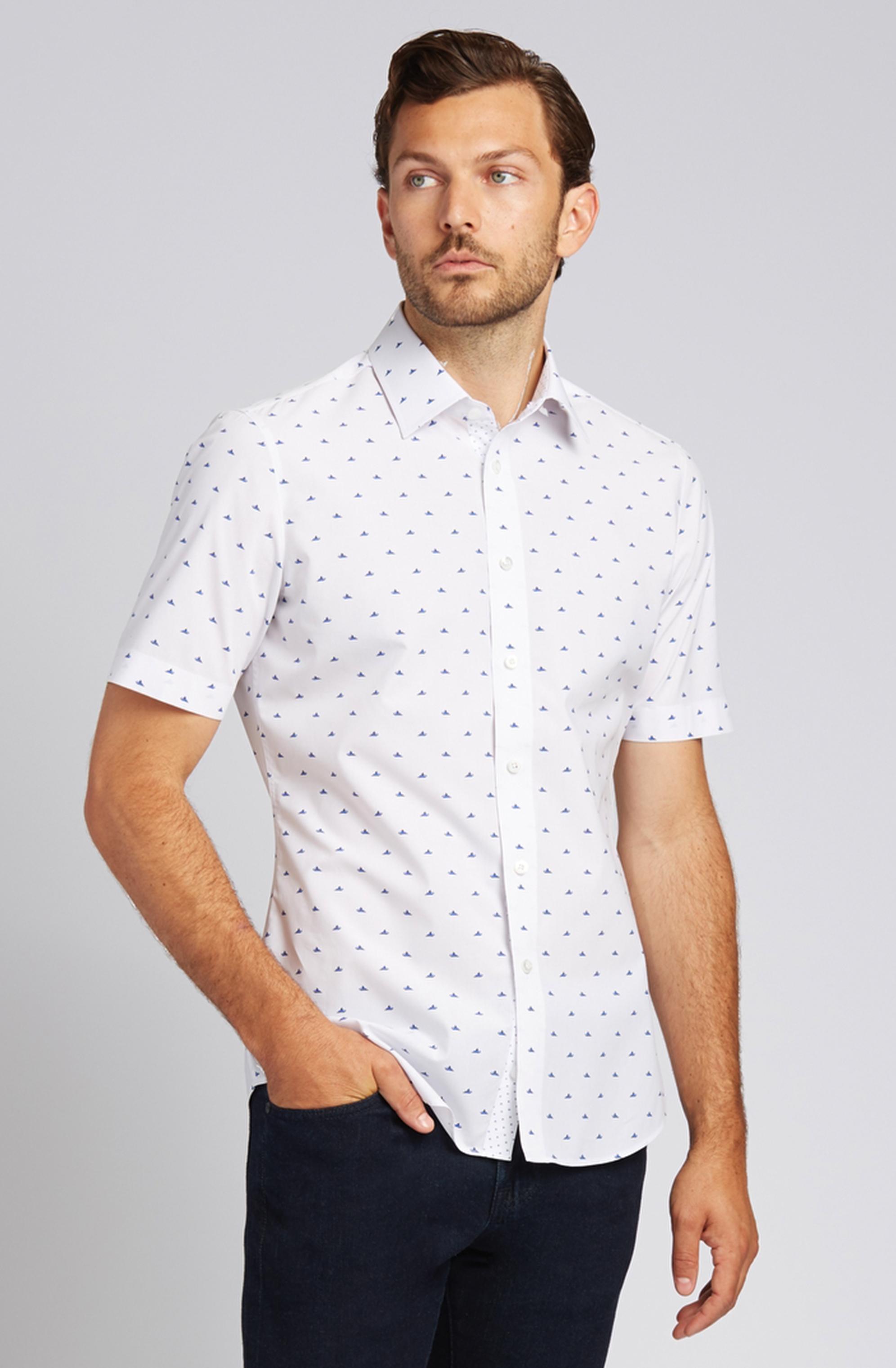 Jet-Ski Short-Sleeve Button-Front Shirt