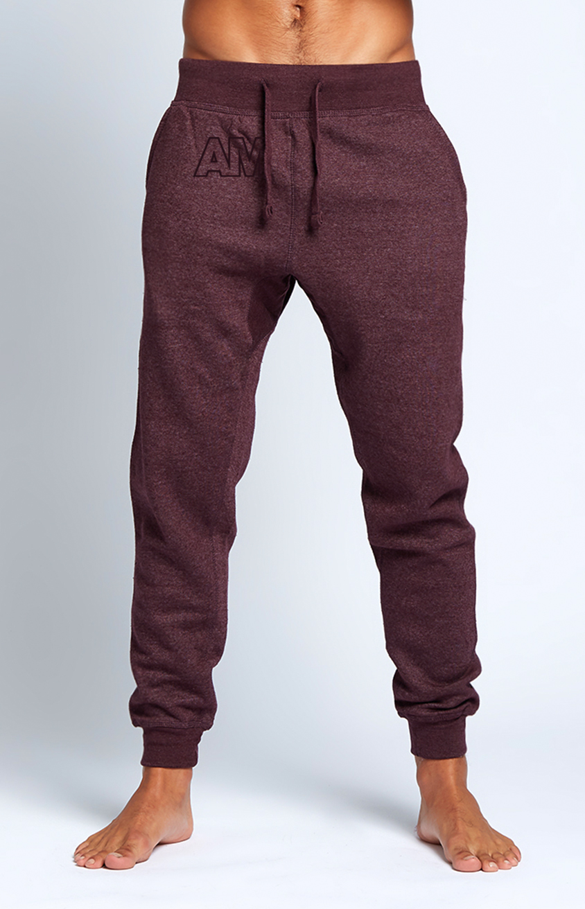 AM Jogger Sweatpants in Plum