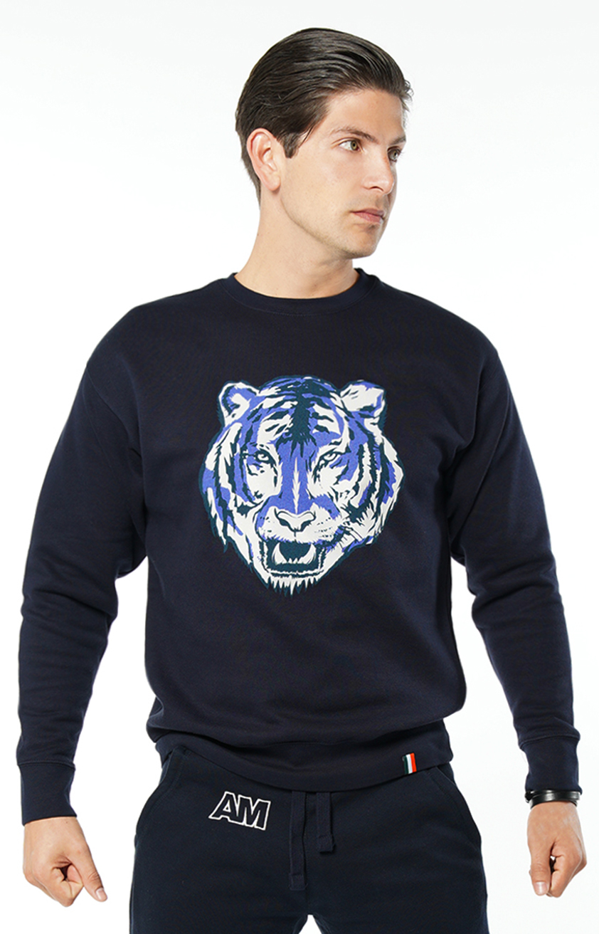 August McGregor Tiger Sweatshirt in Navy