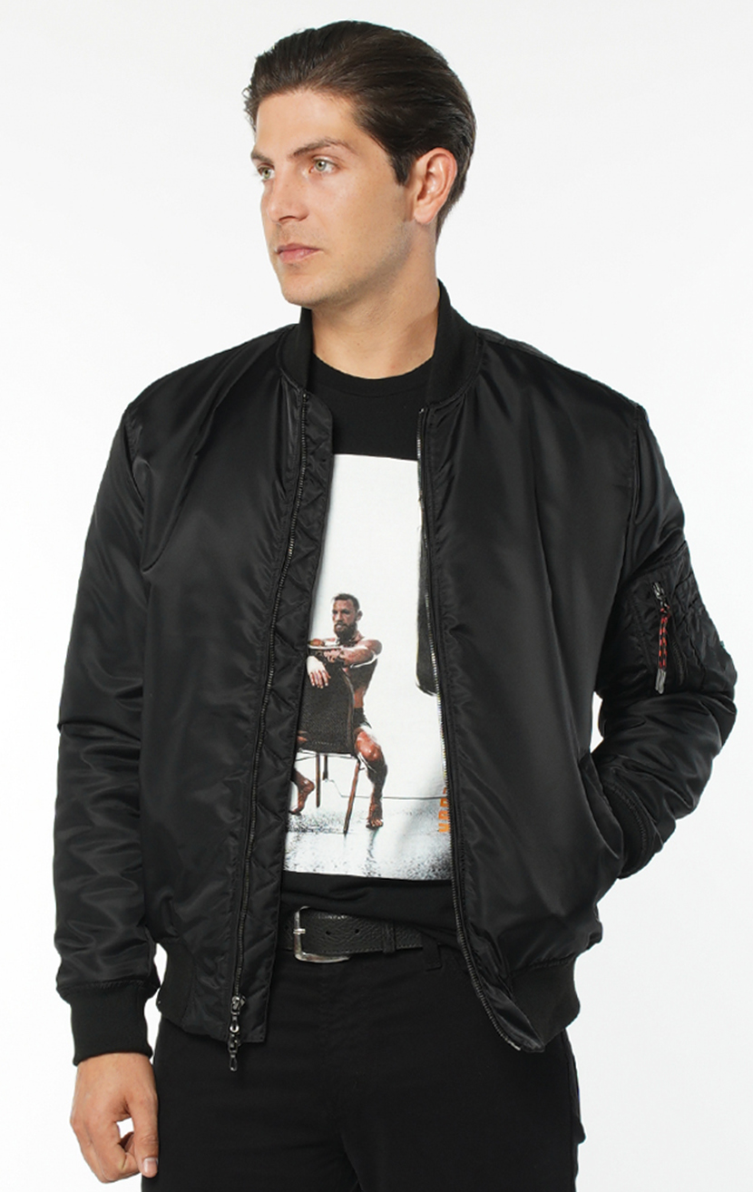 August McGregor Bomber Jacket in Black