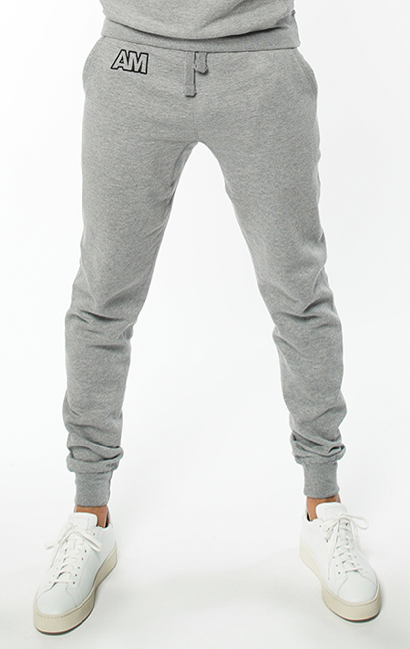 AM Jogger Sweatpants in Carbon Grey