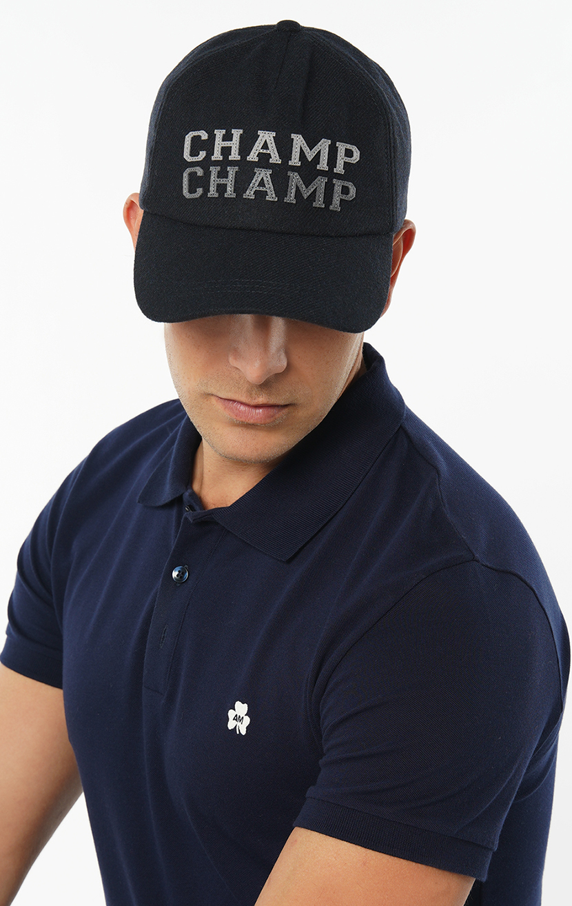 Champ Champ Embroidered Wool-Blend Baseball Cap