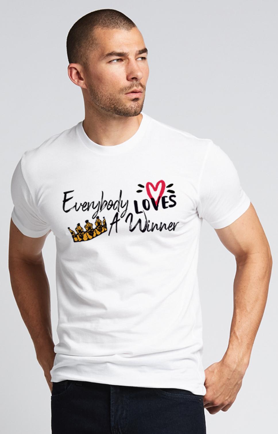 Everybody Loves A Winner T-shirt in White