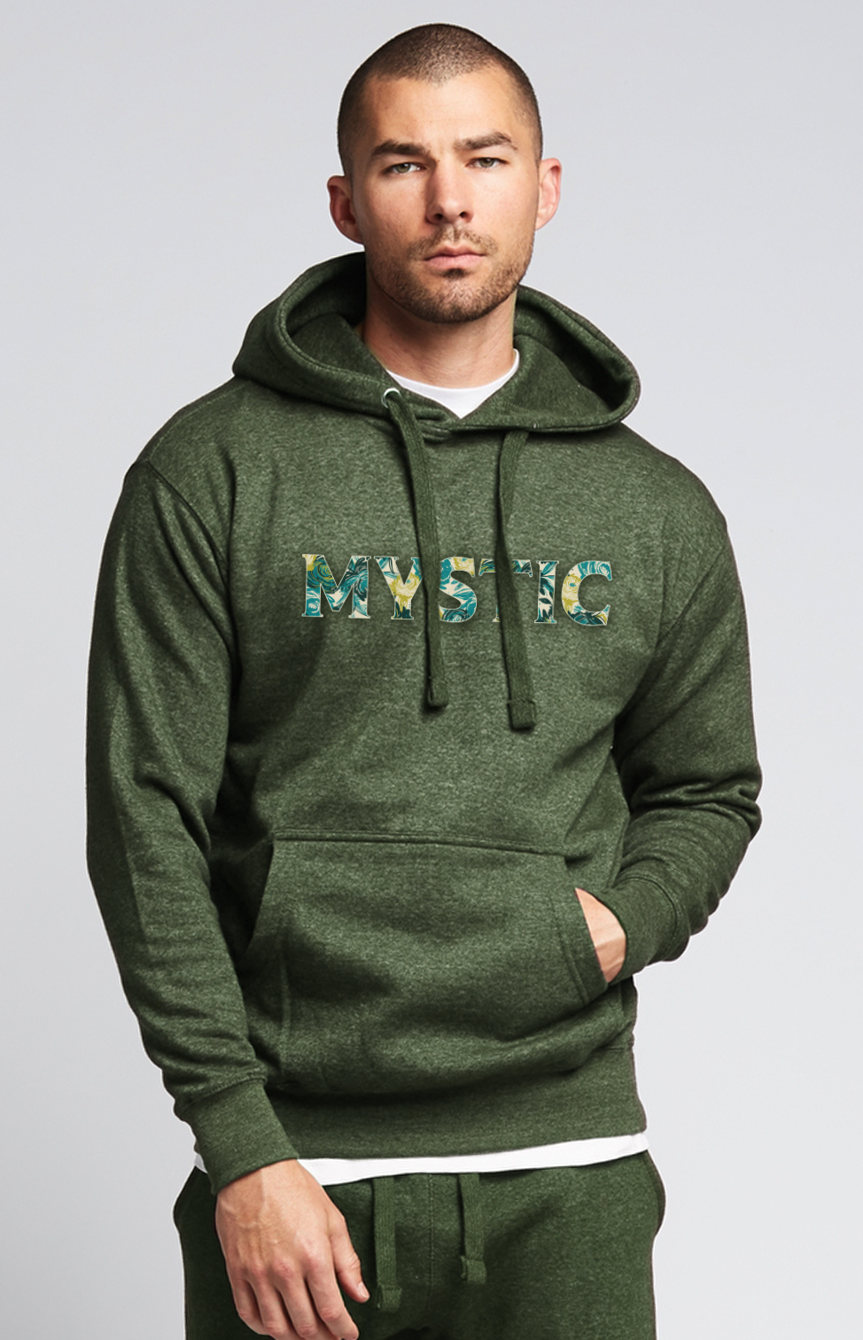 Mystic Hooded Sweatshirt in Heather Green