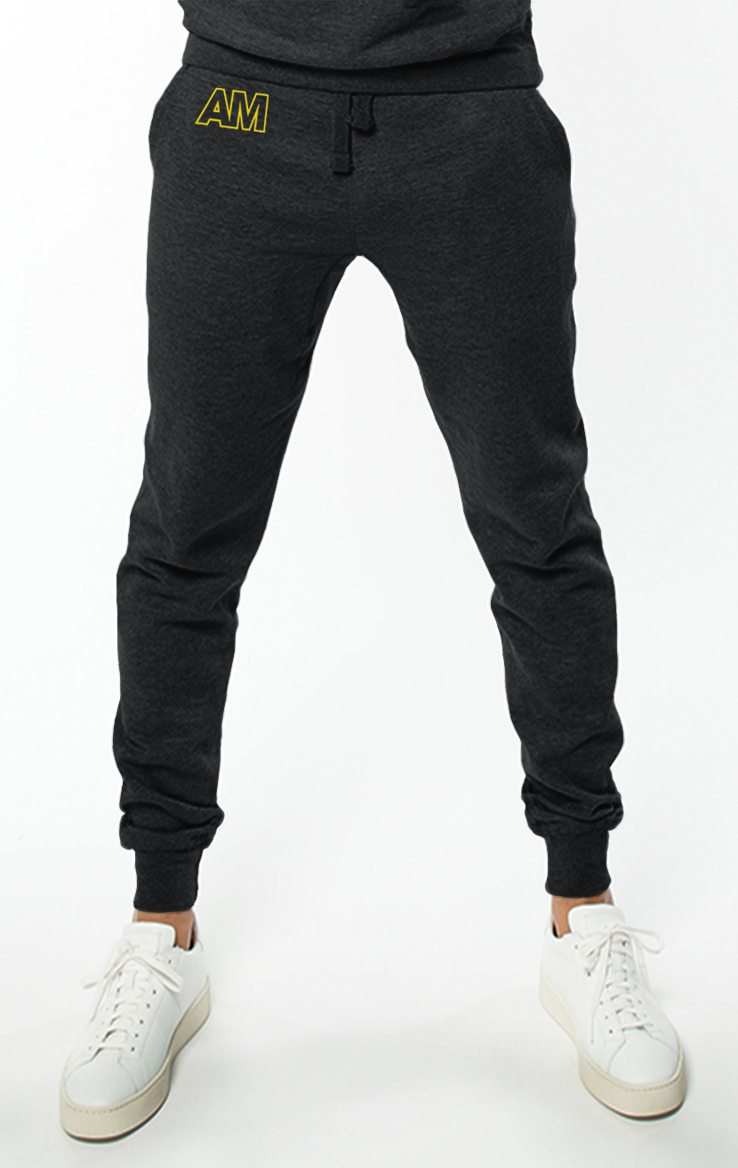 AM Jogger Sweatpants in Charcoal Grey