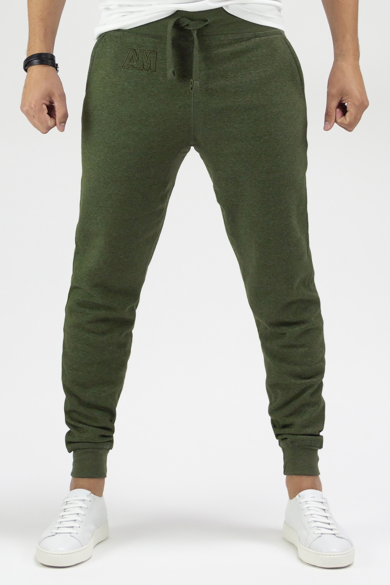 AM Jogger Sweatpants in Heather Green