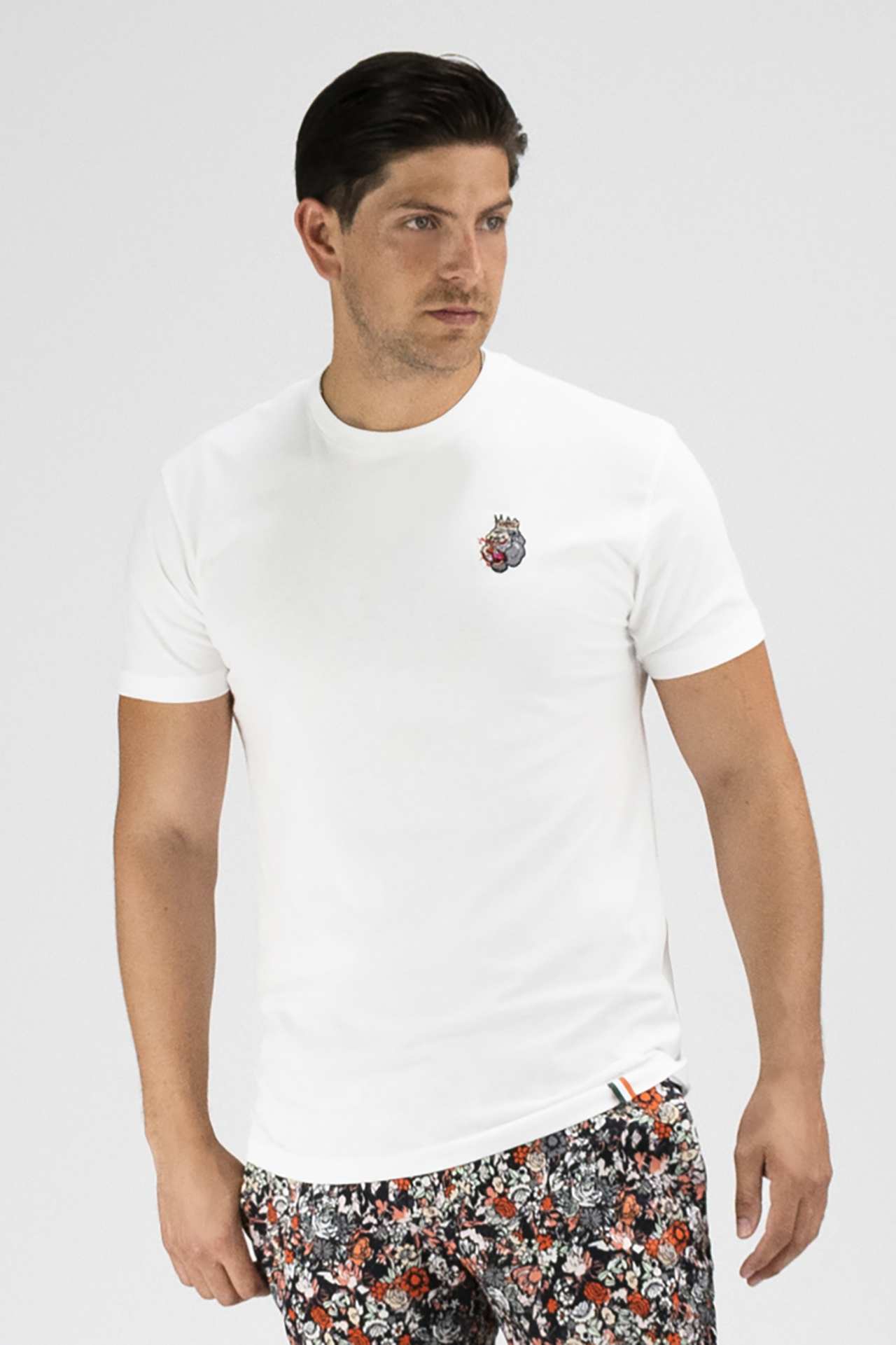 Embroidered Blood Hungry Gorilla T-shirt in White