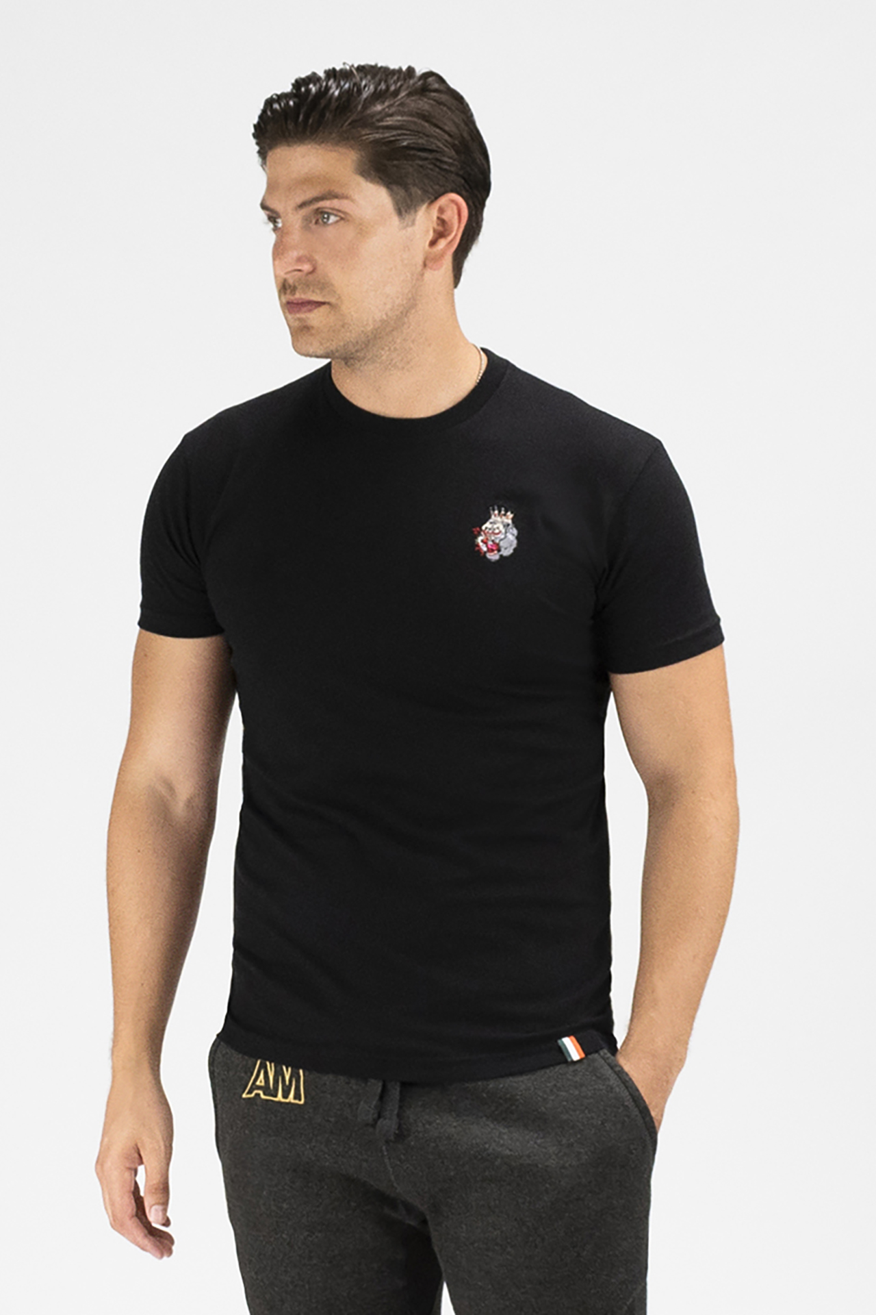 Embroidered Blood Hungry Gorilla T-shirt in Black