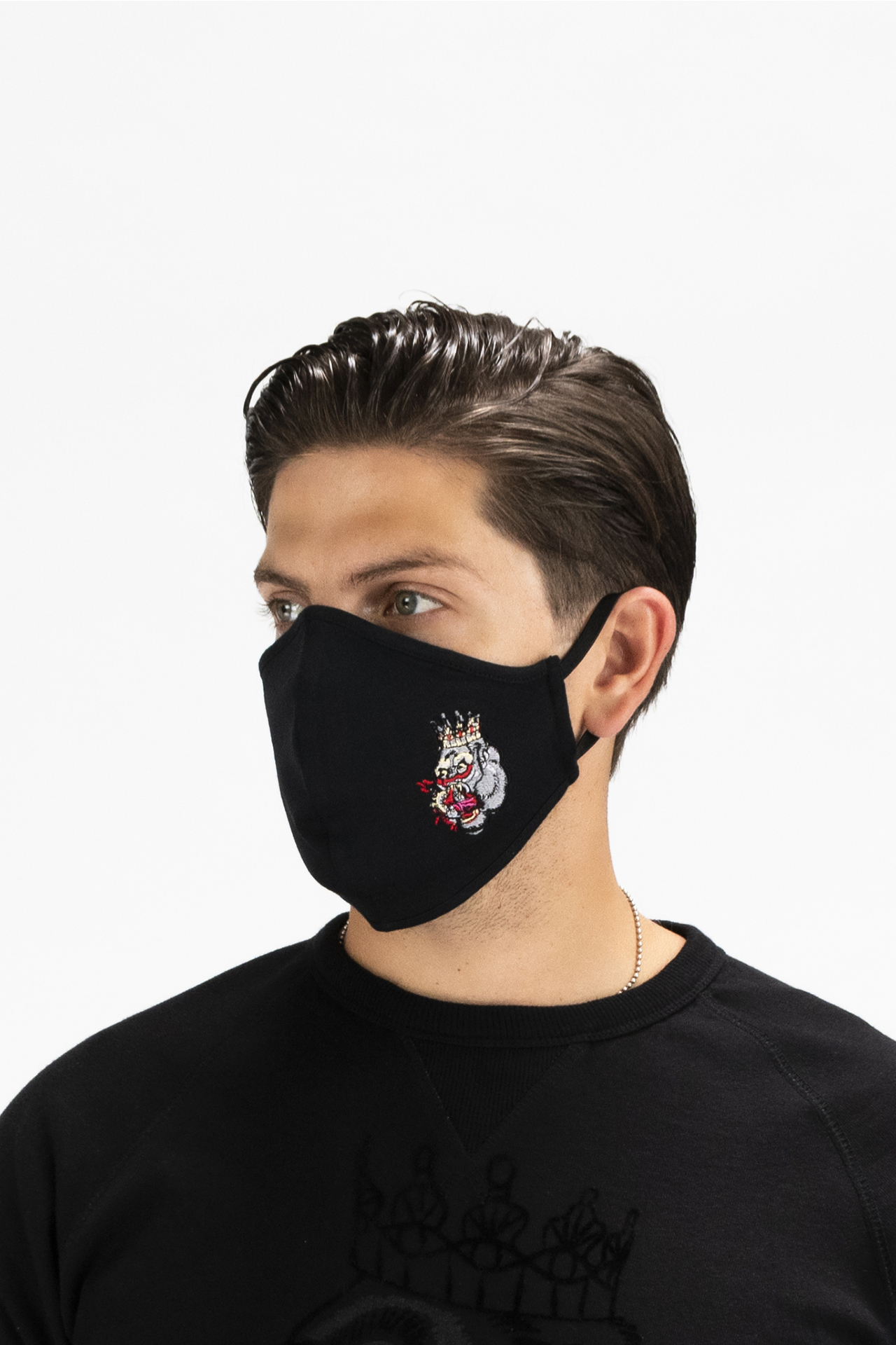 Blood Hungry Gorilla Cloth Face Mask in Black