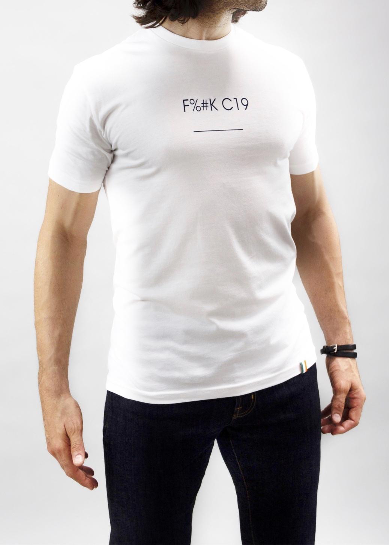 F%#K C19 T-shirt in White