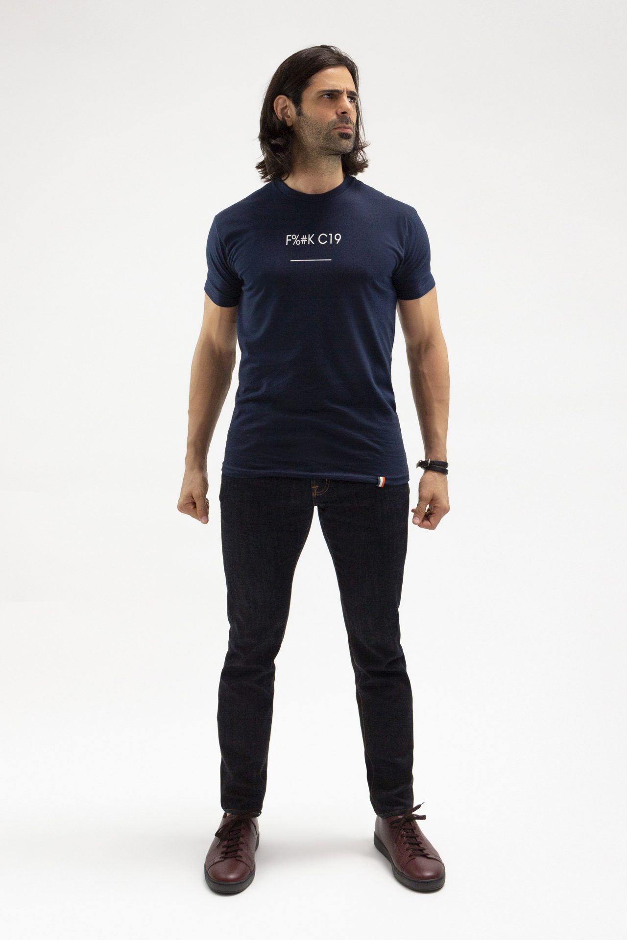 F%#K C19 T-shirt in Navy