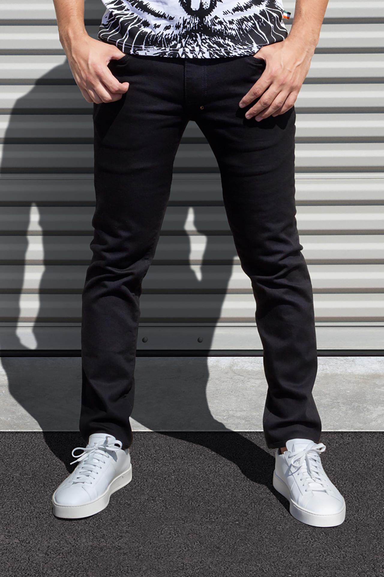 AM X PRPS Stretch Denim Jeans in Black
