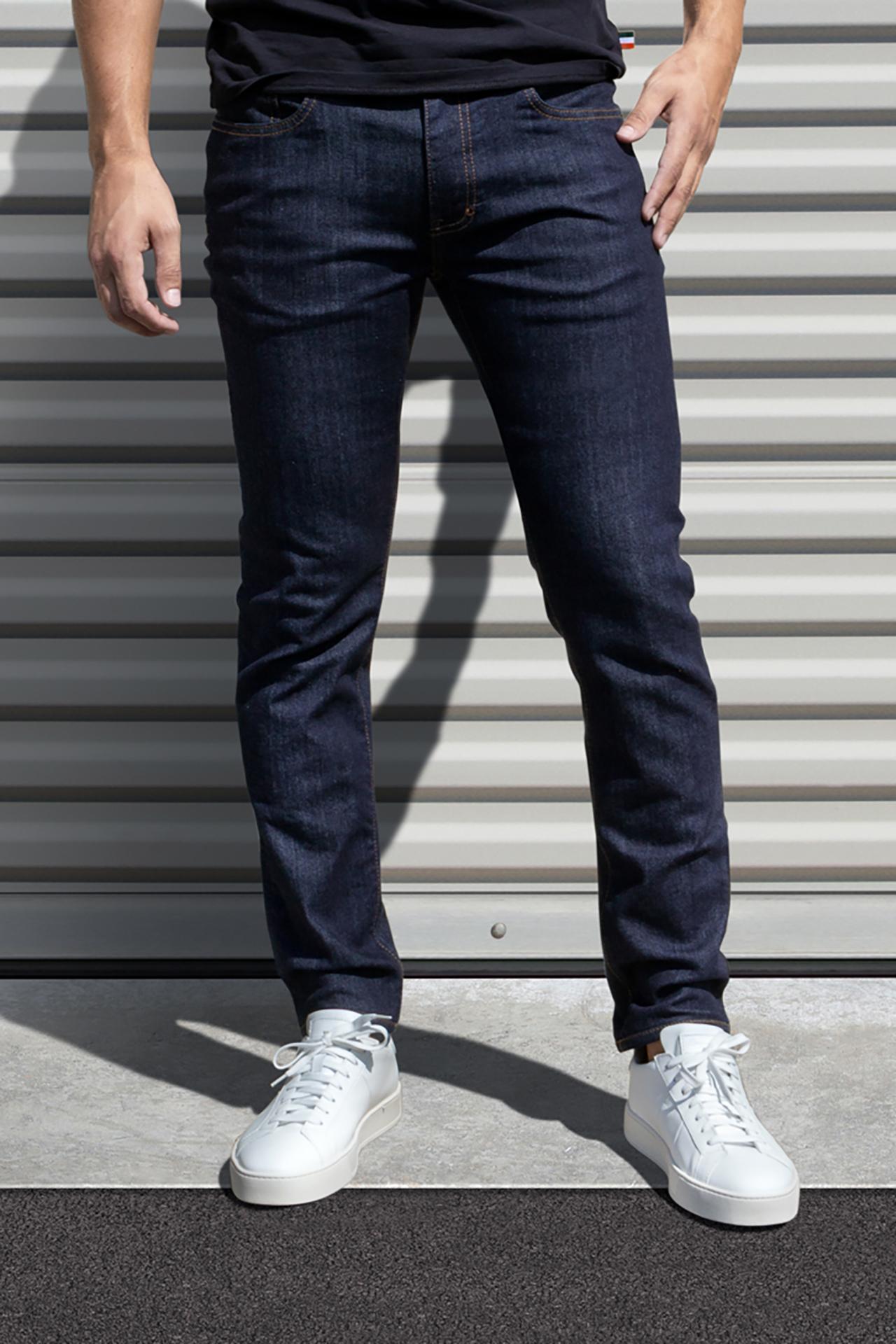 AM X PRPS Stretch Denim Jeans in Raw Indigo