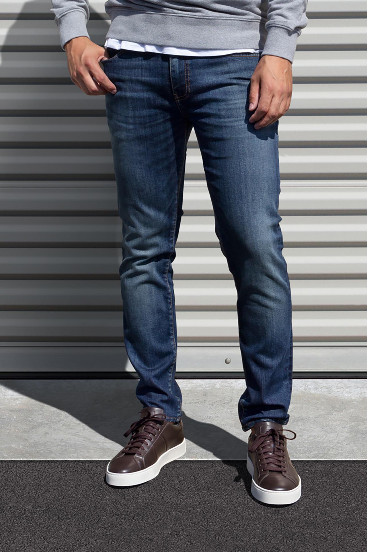 AM X PRPS Stretch Denim Jeans in Blue Wash